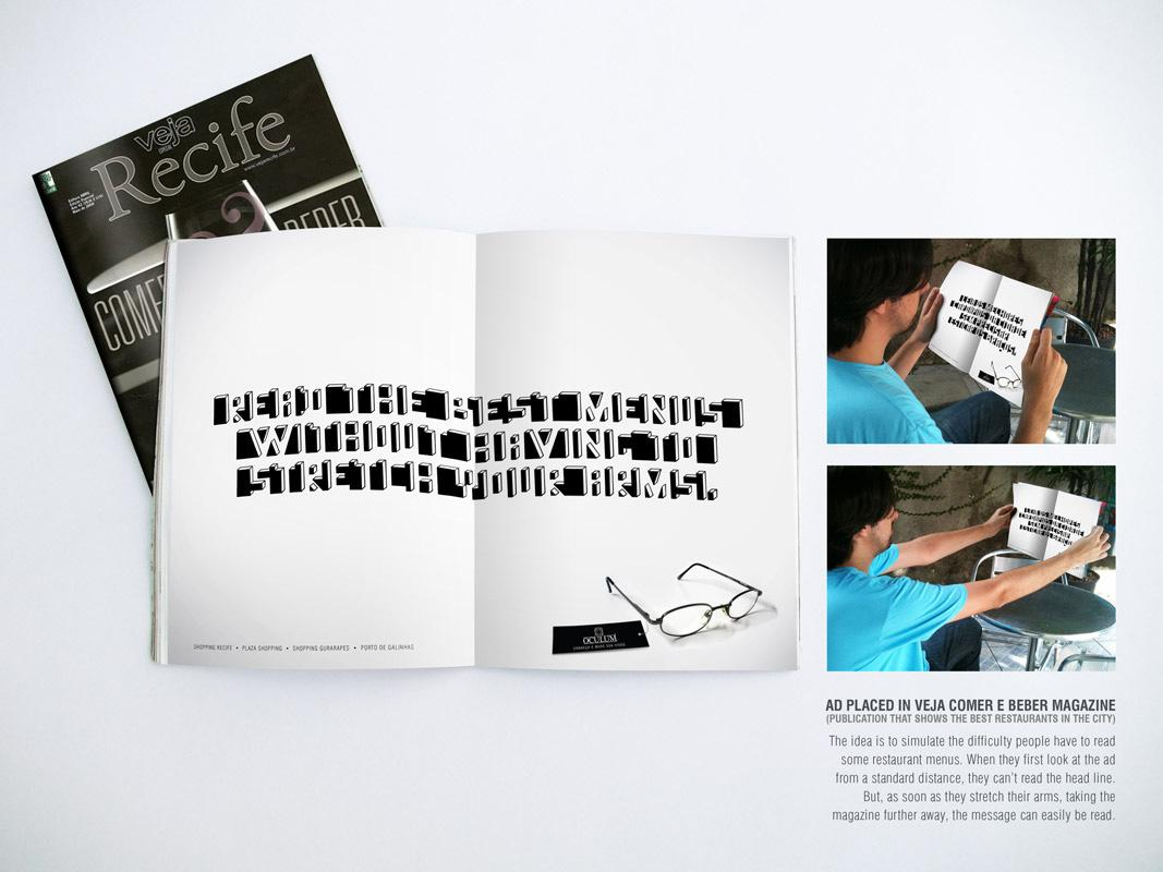 Oculum Print Ad -  Restaurant Menu