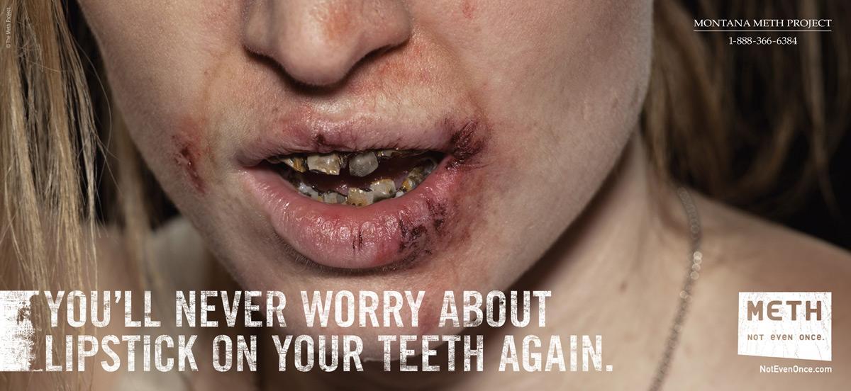 Montana Meth Project Print Ad -  Lipstick