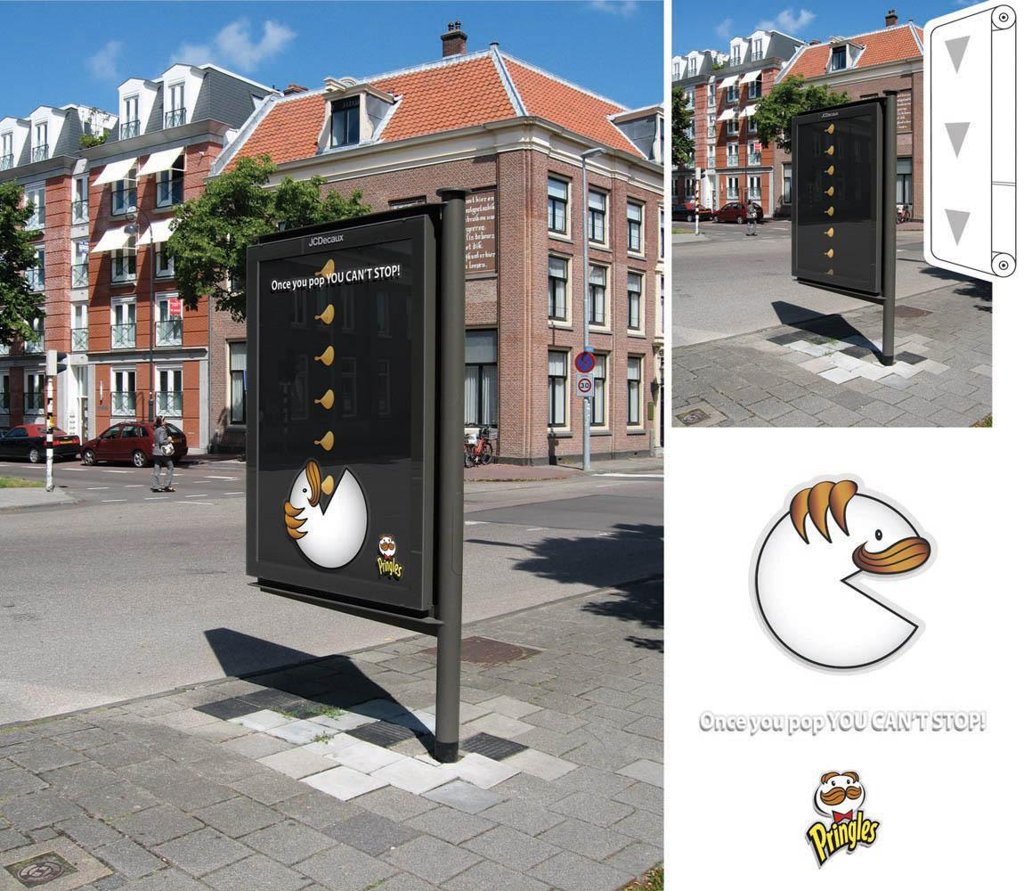 Pringles Ambient Ad -  Once you pop