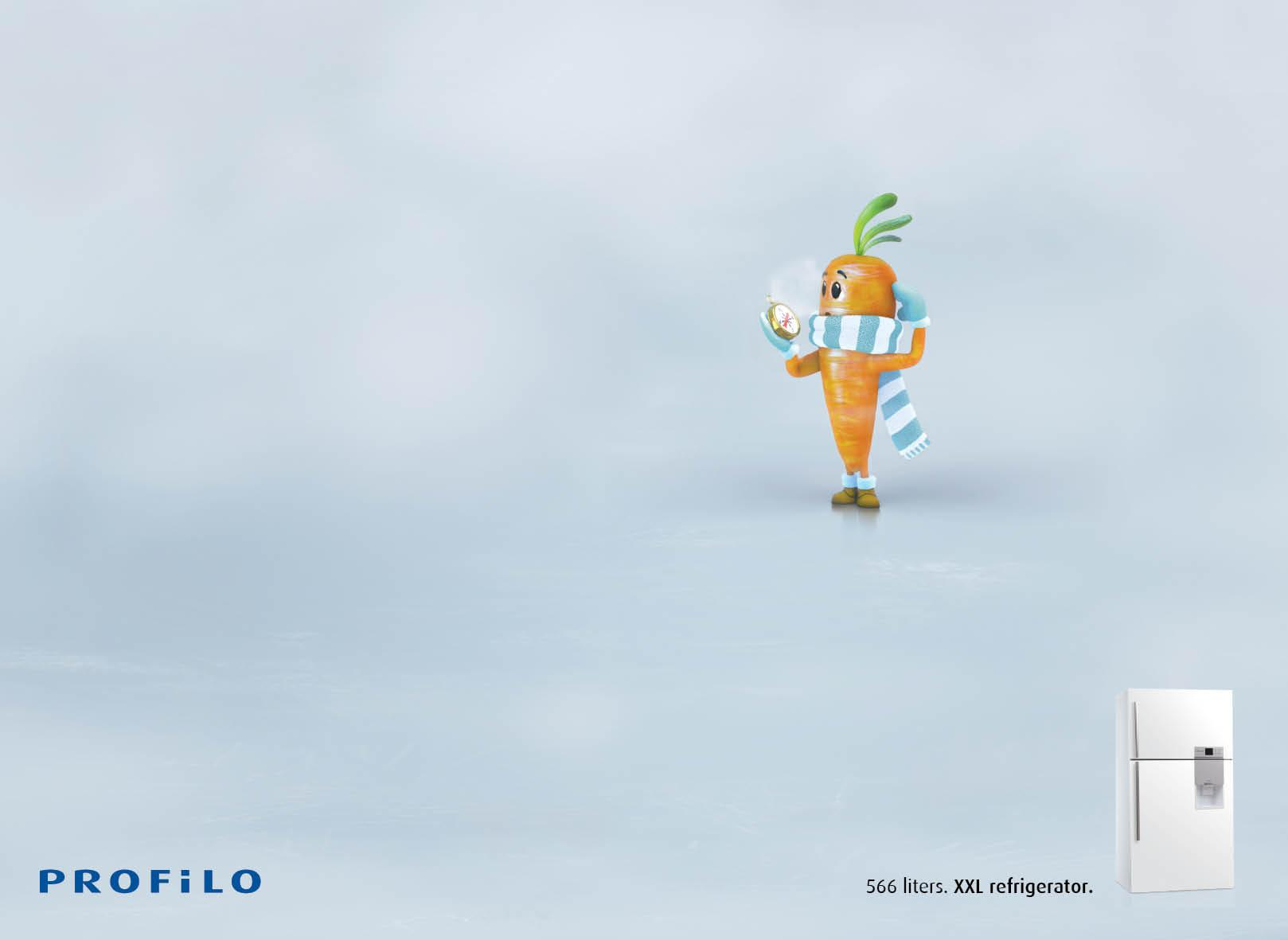 Profilo Print Ad -  Lost Vegetables, Carrot