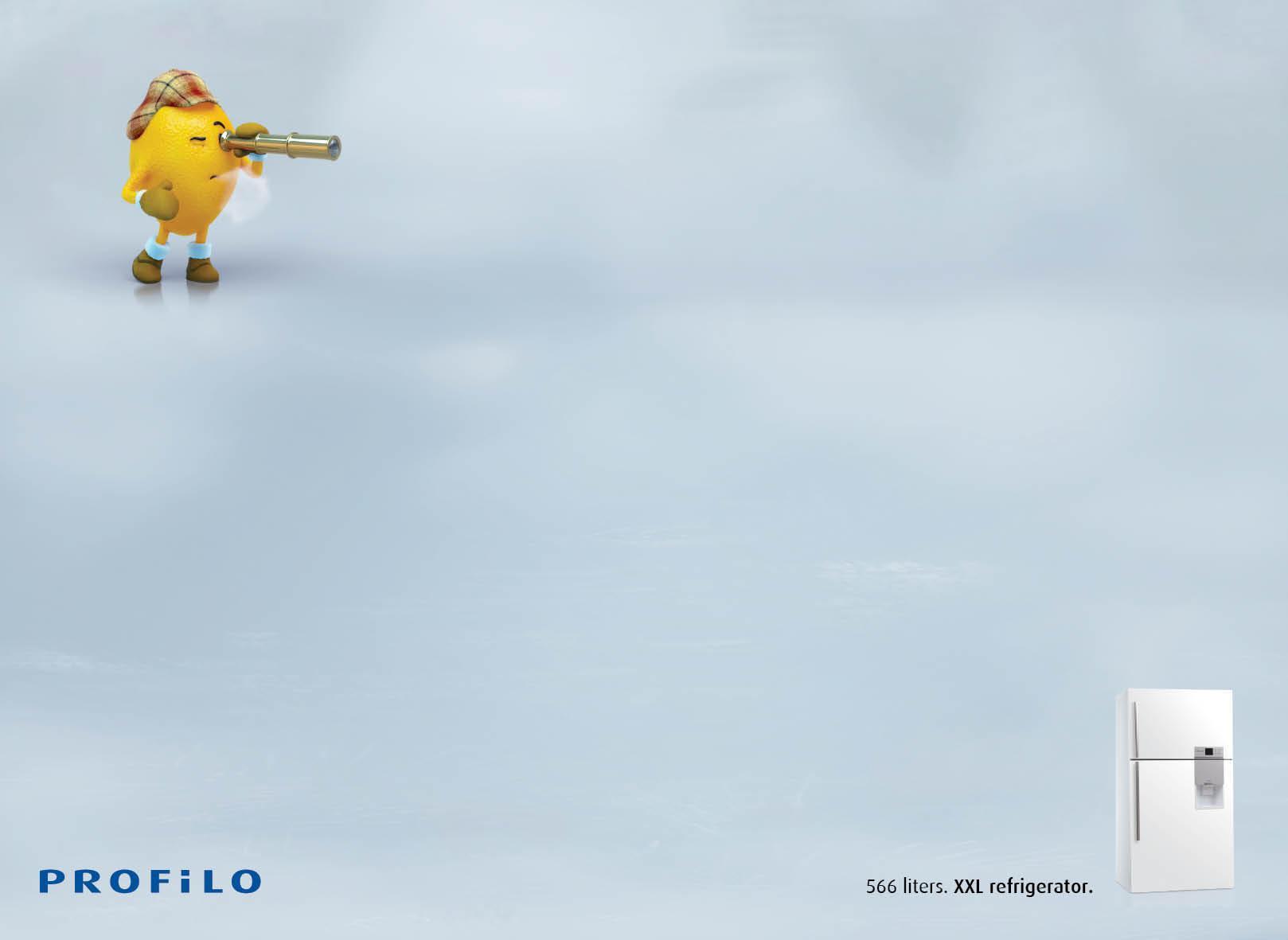 Profilo Print Ad -  Lost Vegetables, Lemon