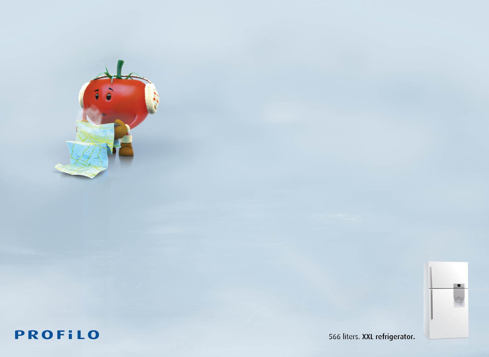 Profilo Print Ad -  Lost Vegetables, Tomato