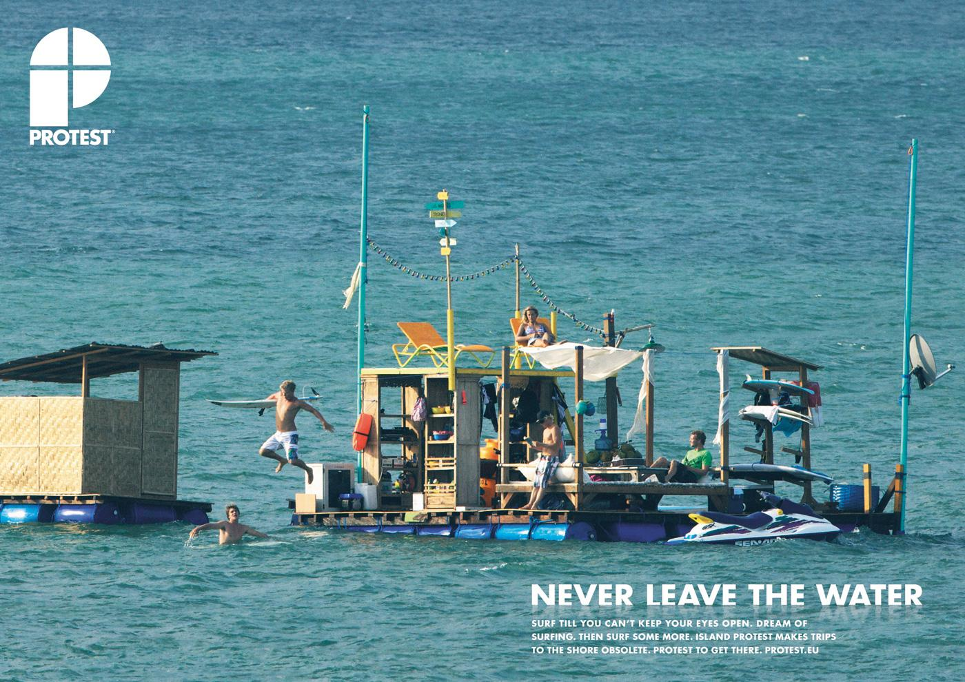 Protest Boardwear Print Ad -  Island protest, 1