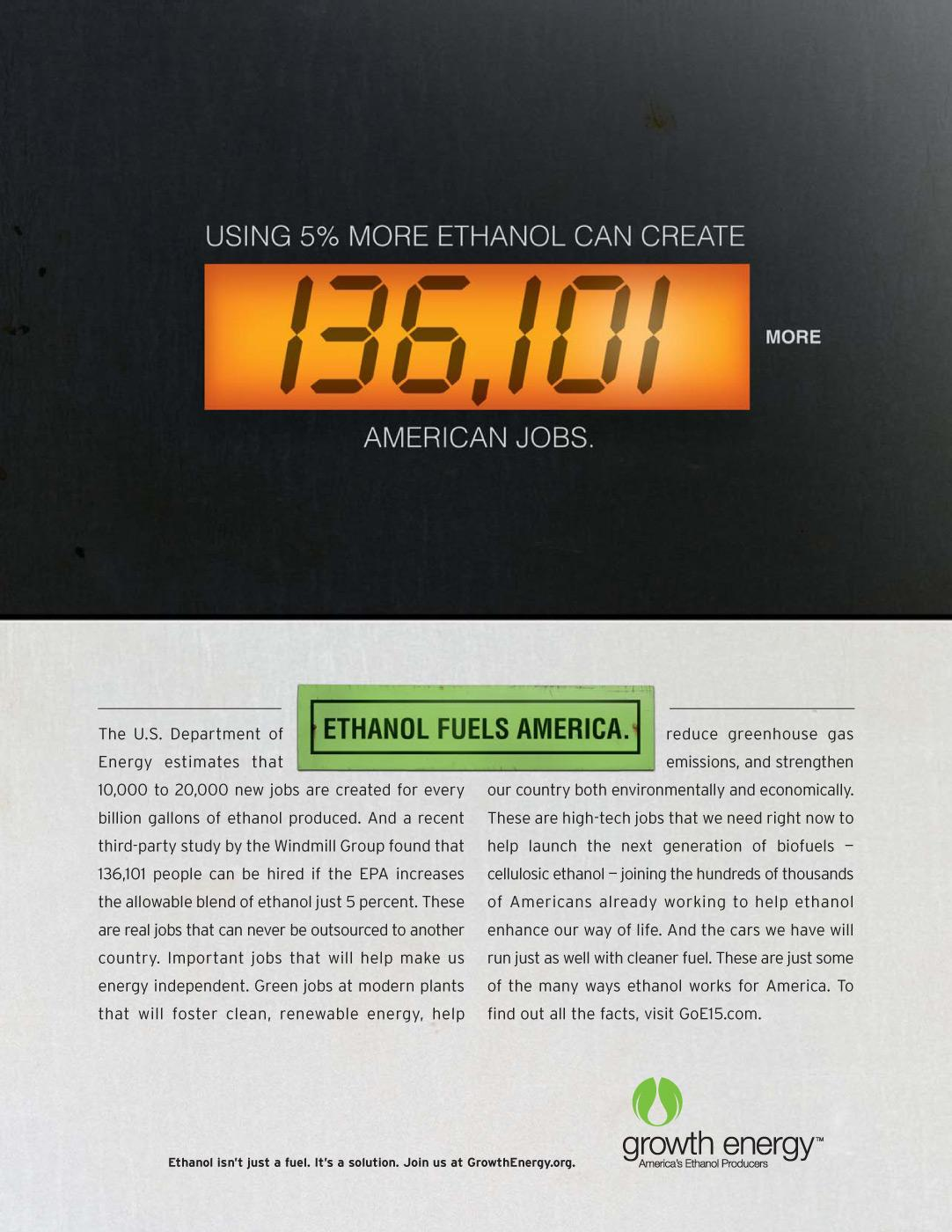 Growth Energy Print Ad -  Pump numbers, Jobs