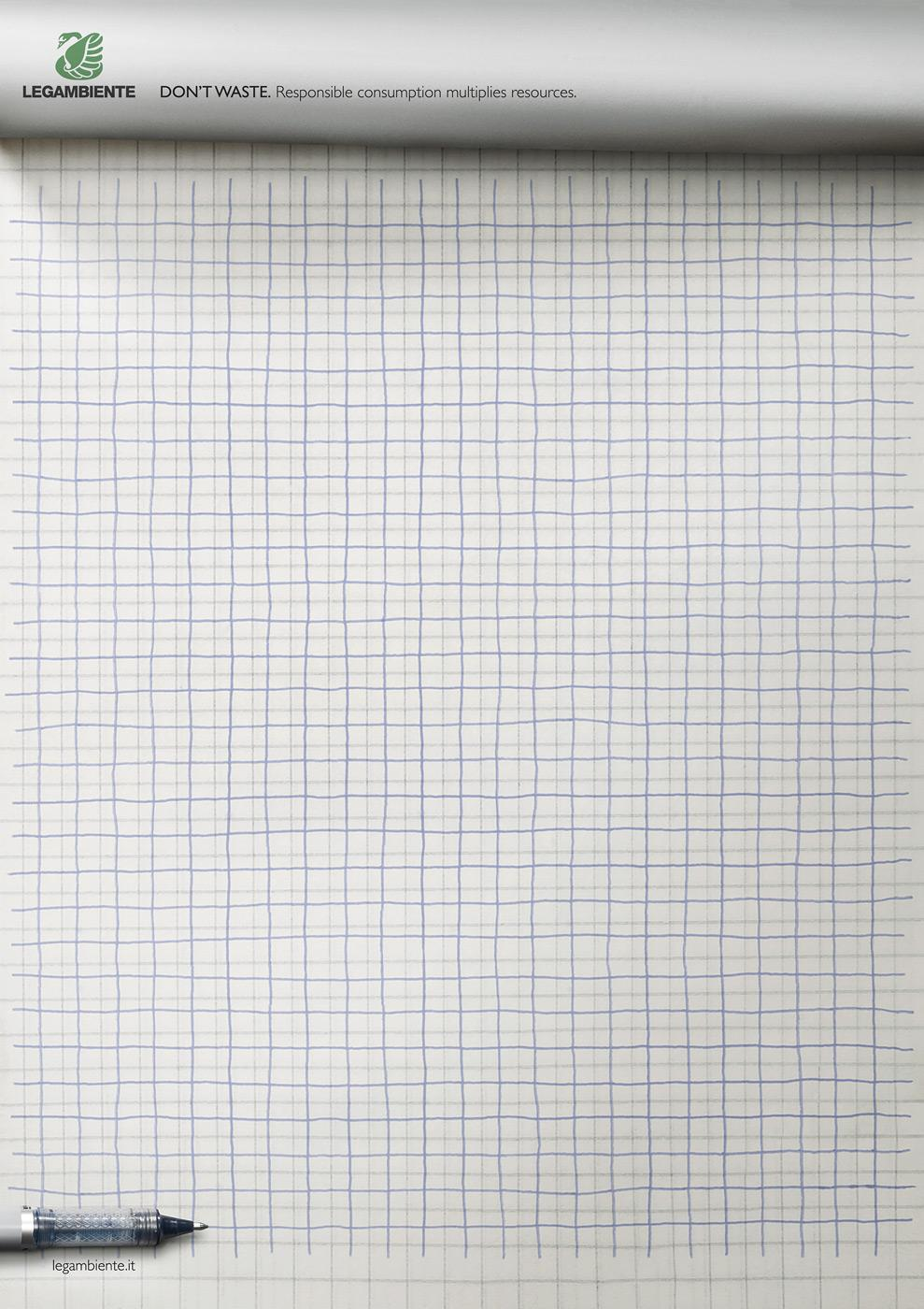 Legambiente Print Ad -  Checkered paper