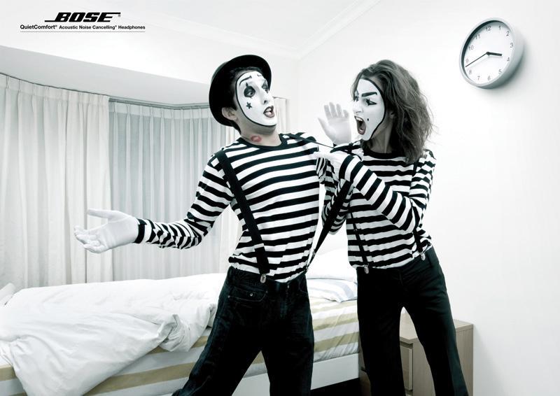 Bose Print Ad -  Mimes, Quarelling couple