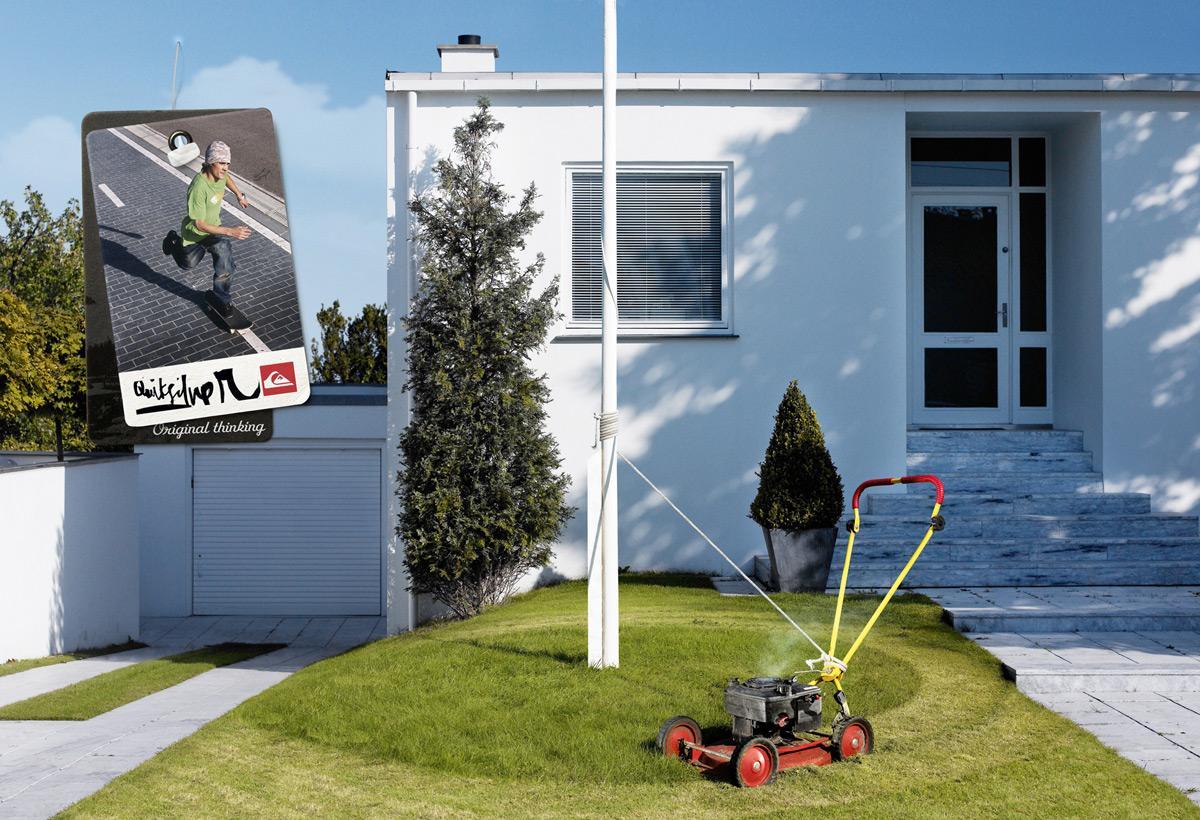Quiksilver Print Ad -  Lawnmower