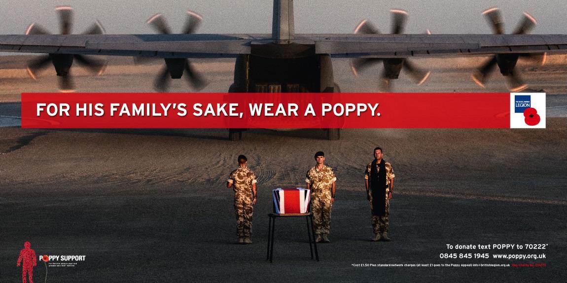 Royal British Legion Print Ad -  Poppy Appeal 2009, 2