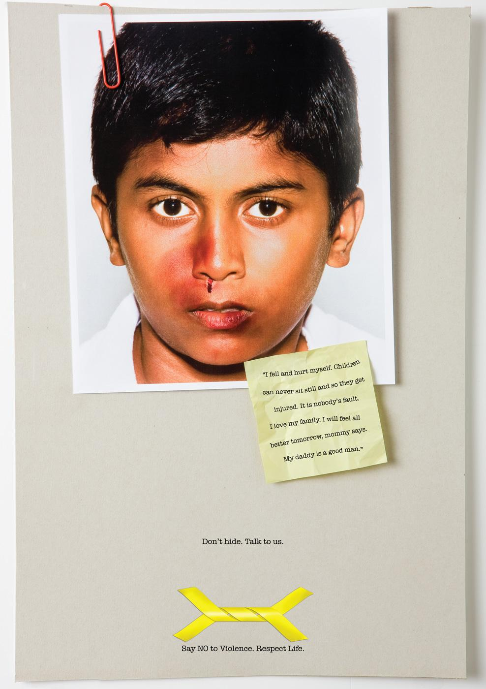 Say NO to Violence Print Ad -  Don't Hide, 4