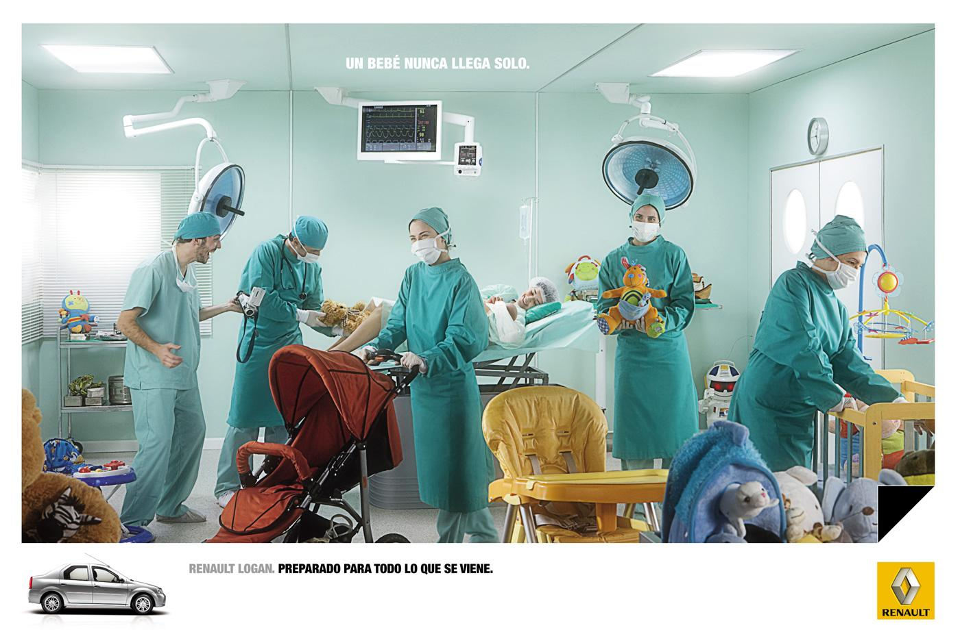 Renault Print Ad -  Delivery room