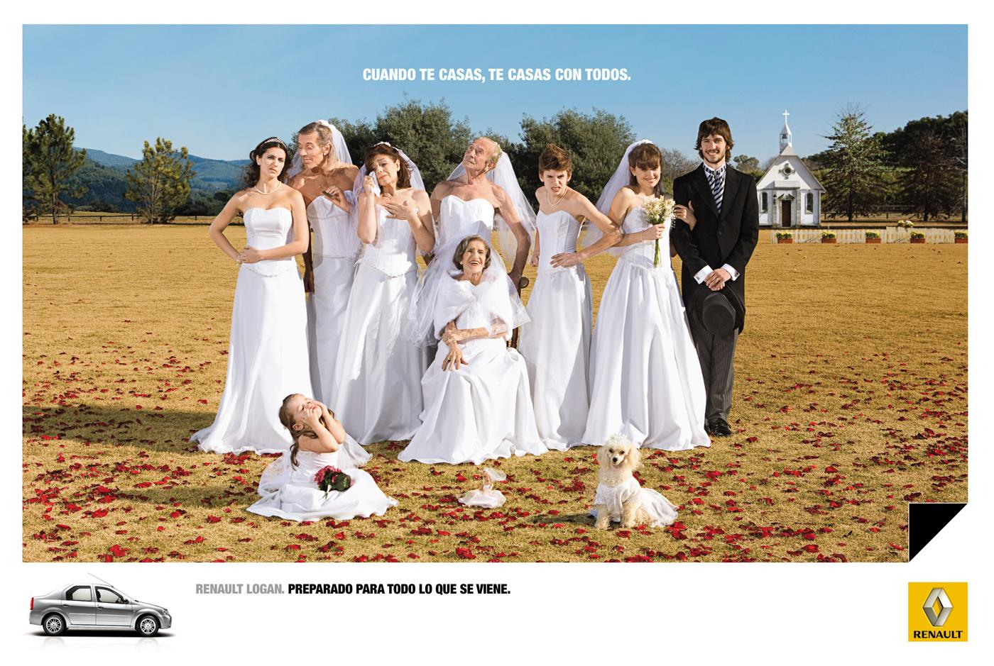 Renault Print Ad -  Wedding