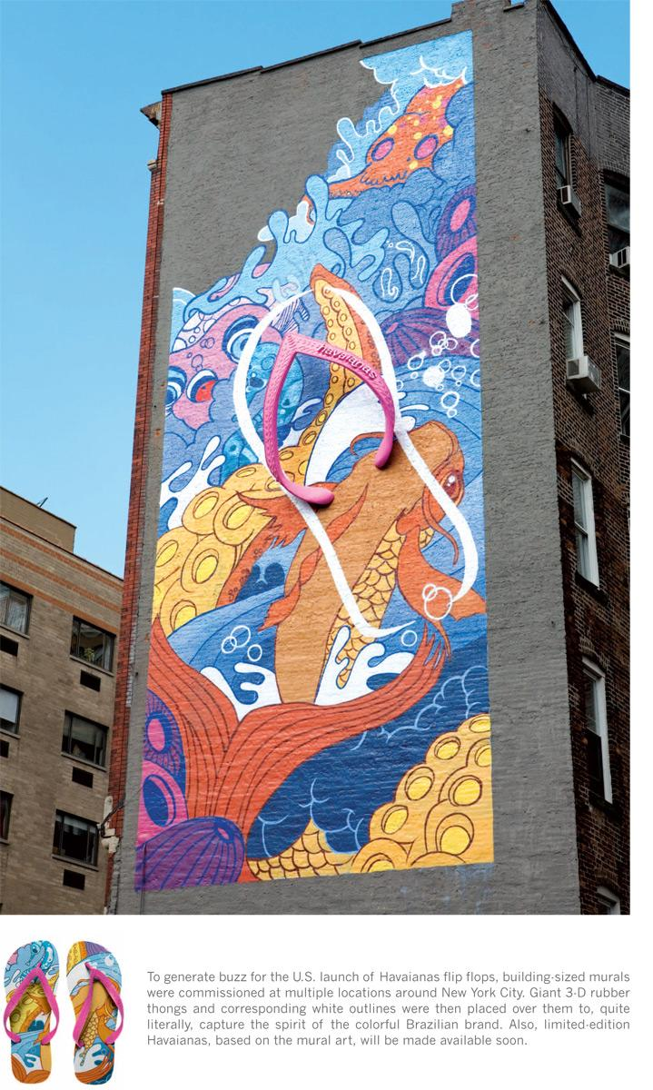 Havaianas Ambient Ad -  Wall, 2