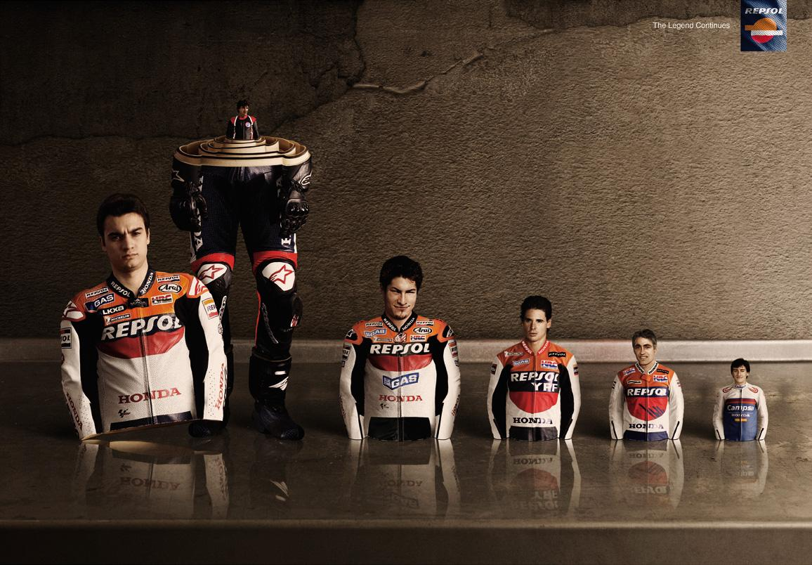 Repsol Print Ad -  The legend continues