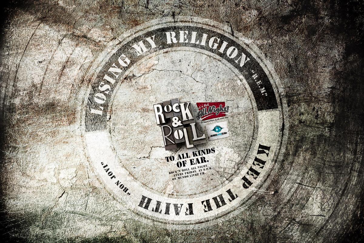 Mundo Livre FM Print Ad -  REM / Bon Jovi