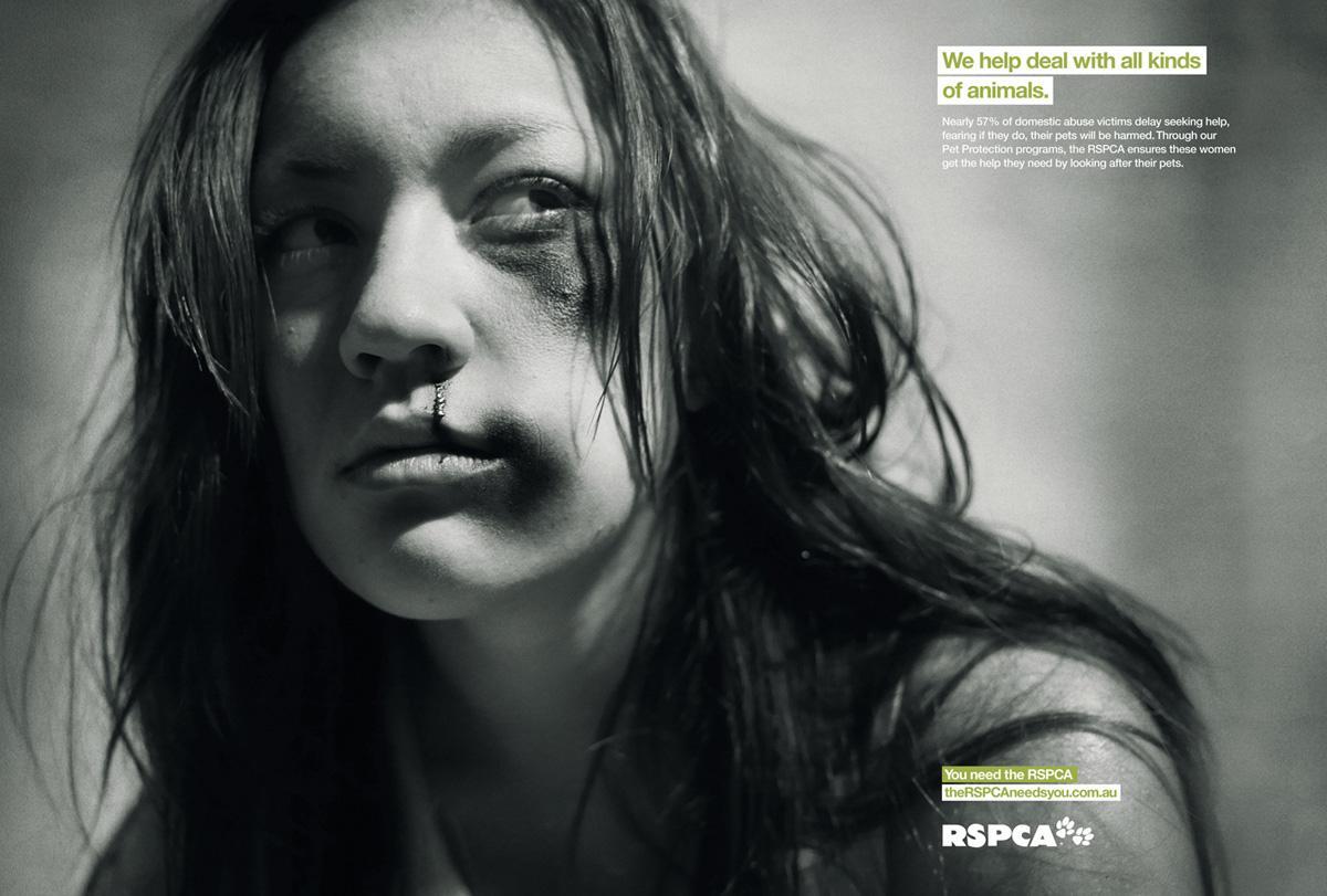 RSPCA Print Ad -  Woman