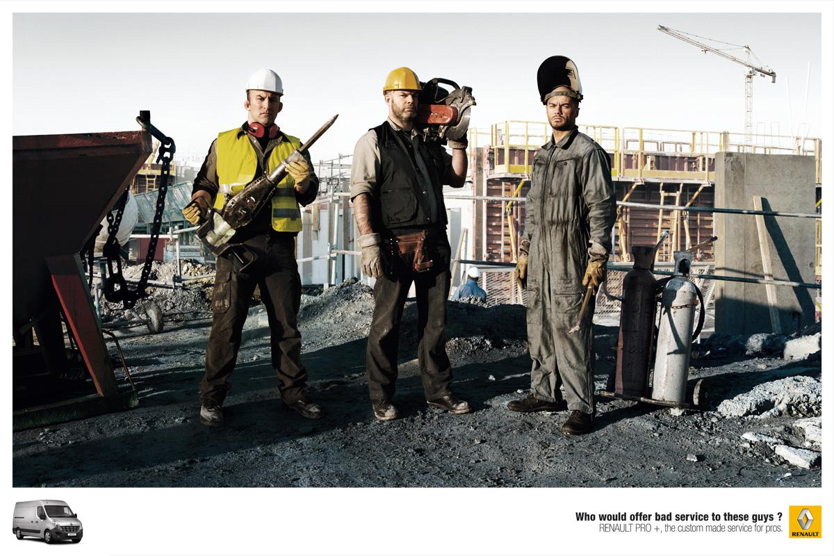 Renault Print Ad -  Bad Boys, Construction
