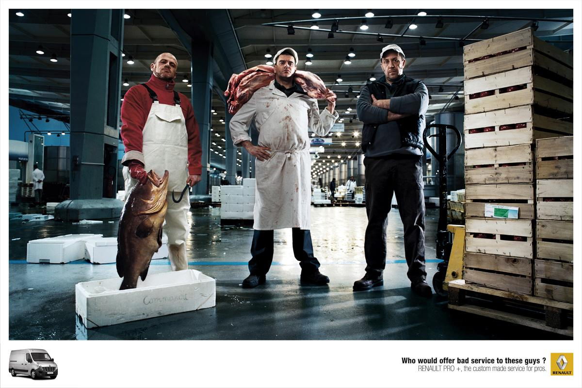 Renault Print Ad -  Bad Boys, Food