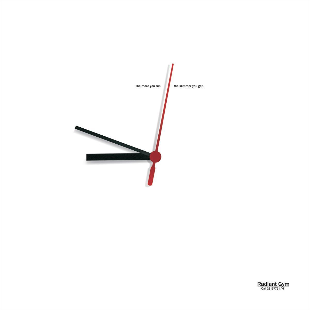 Radiant Gym Print Ad -  Clock