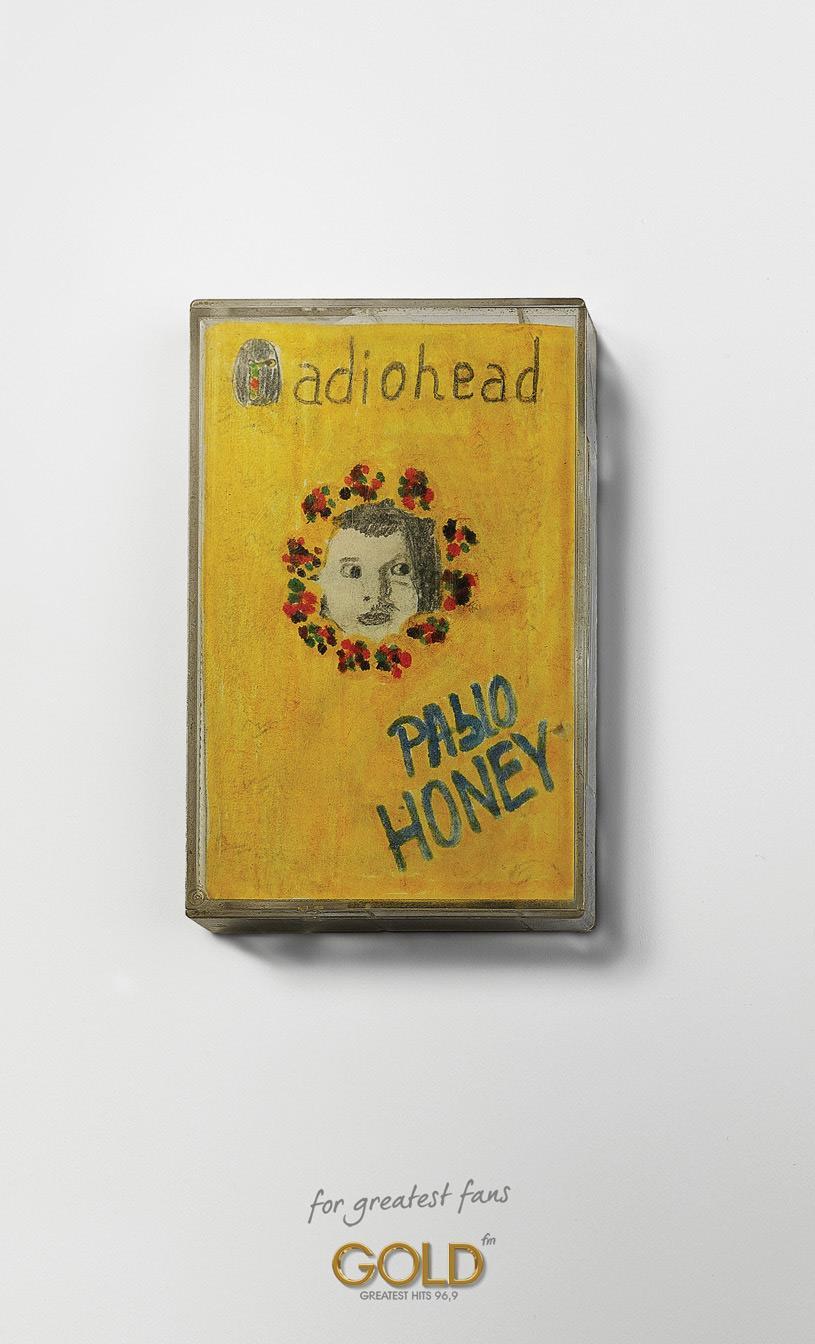 Radio Gold Print Ad -  Radiohead