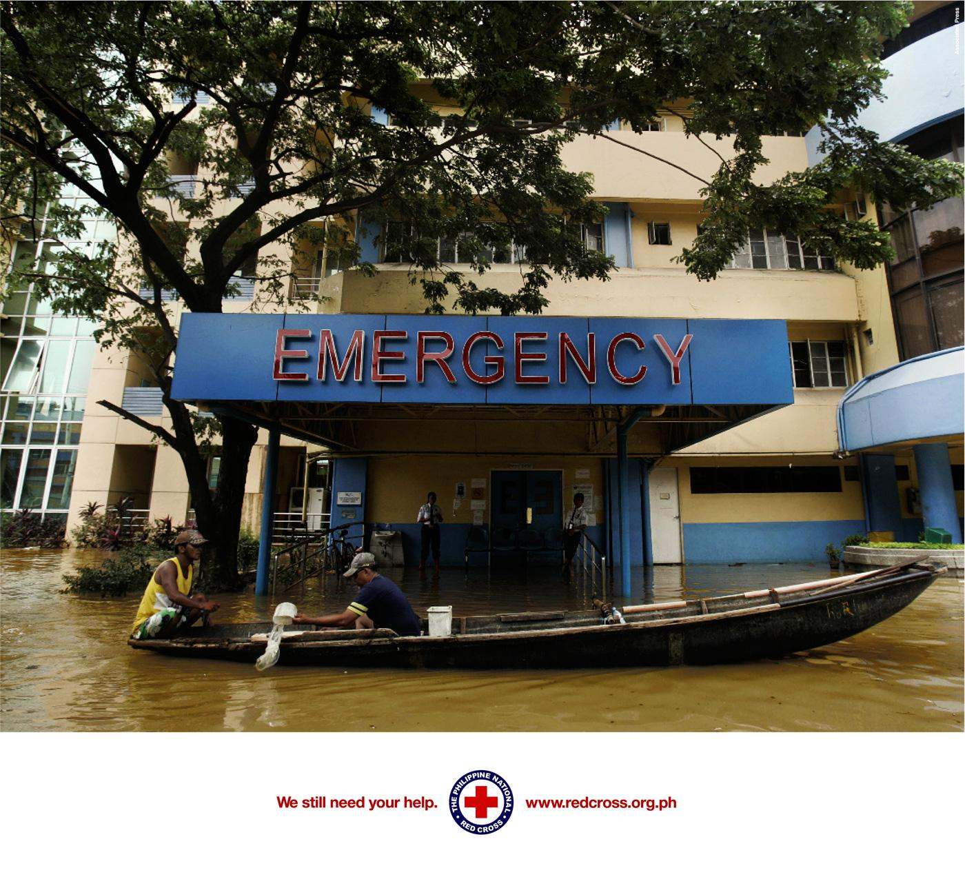Red Cross Print Ad -  Emergency