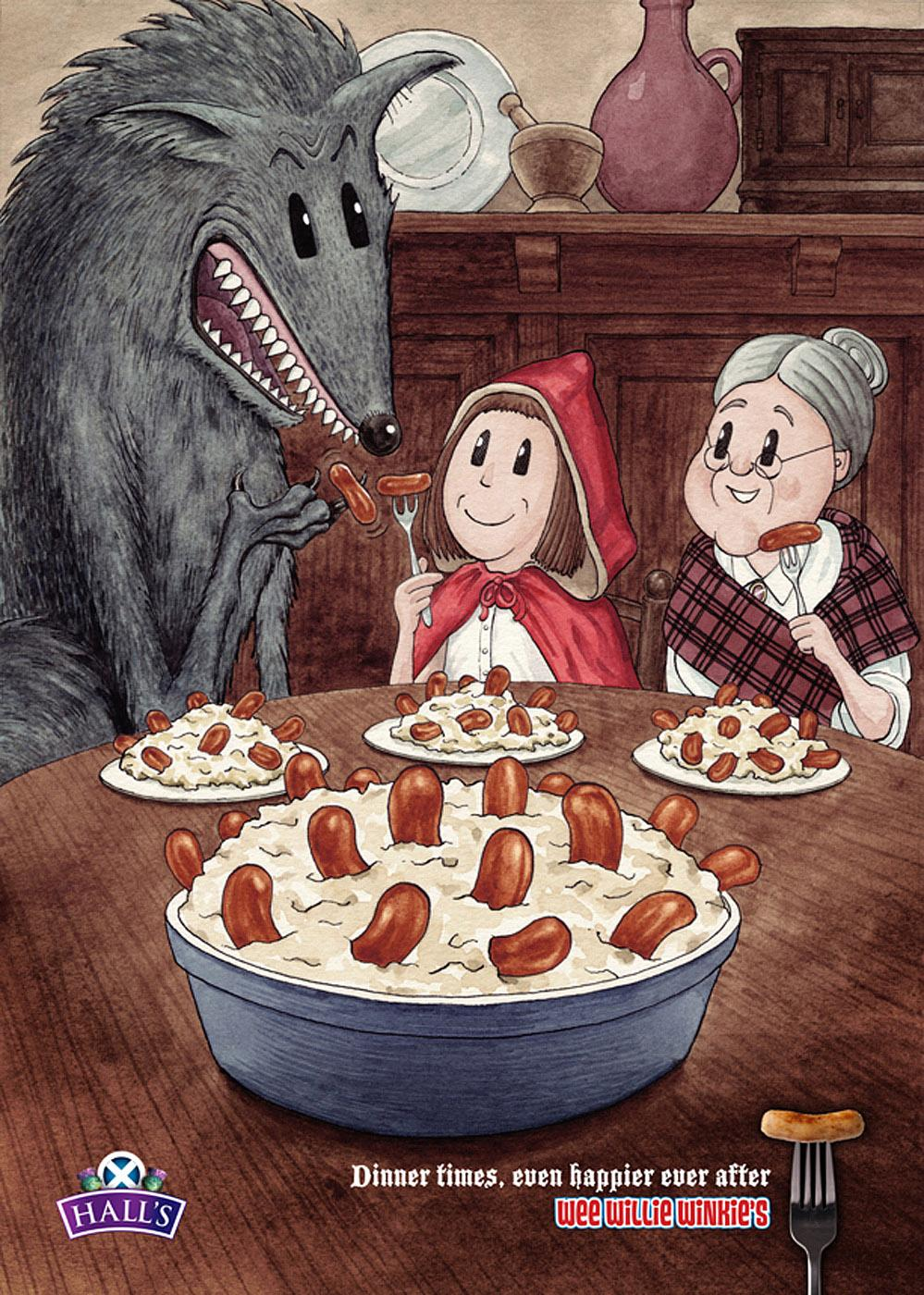 Hall's Print Ad -  Red Riding Hood