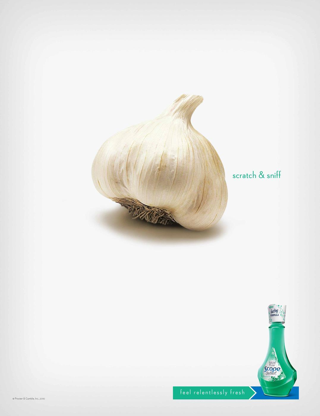 Scope Print Ad -  Relentlessly Fresh Garlic