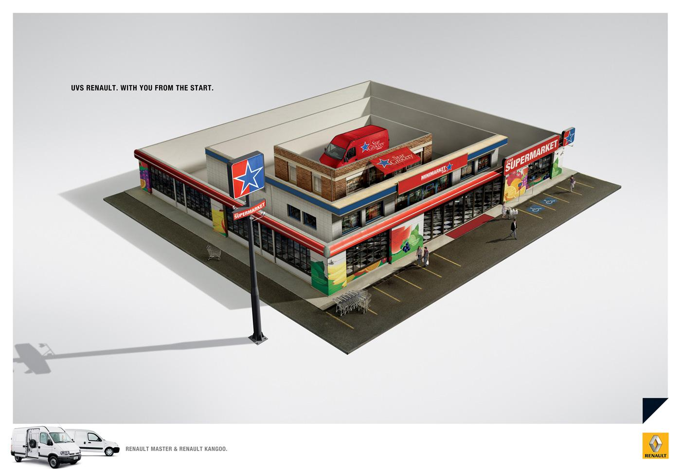 Renault Print Ad -  Supermarket