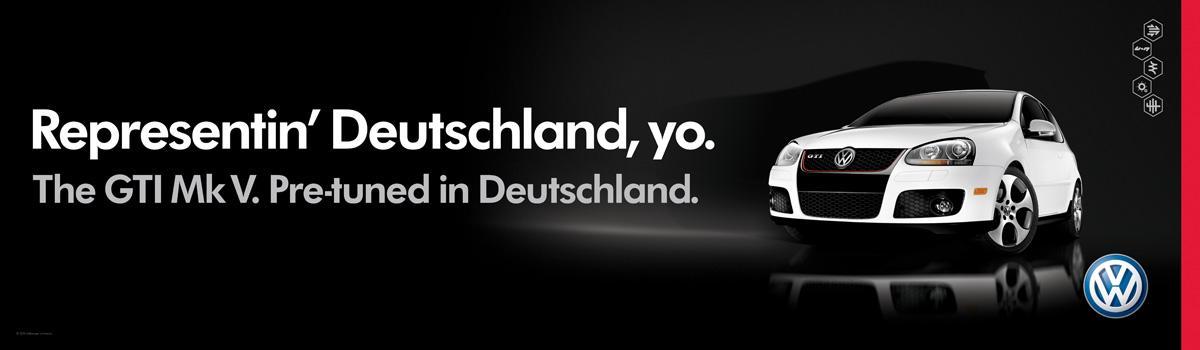 Volkswagen Print Ad -  Representin' Deutschland