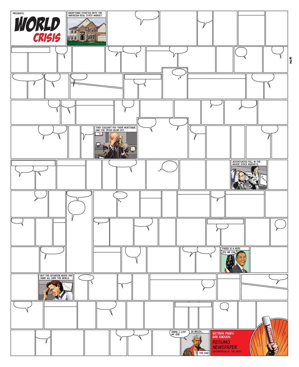 Resumo Print Ad -  World Crisis
