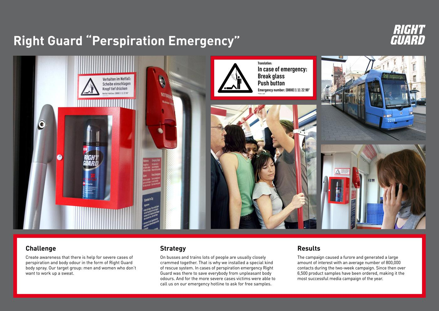 Right Guard Ambient Ad -  Perspiration Emergency