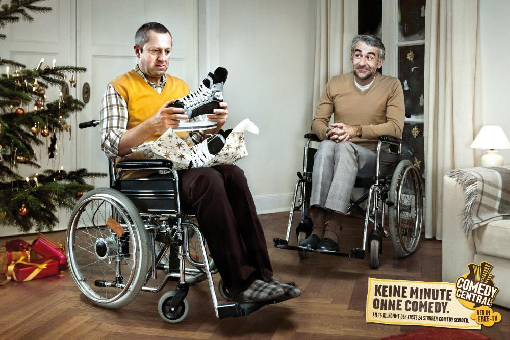 Comedy Central Print Ad -  Wheelchair