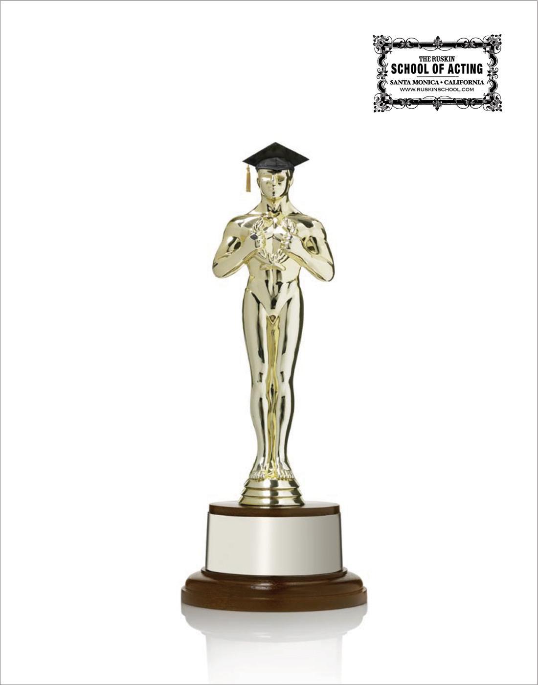 The Ruskin School of Acting Print Ad -  Oscar