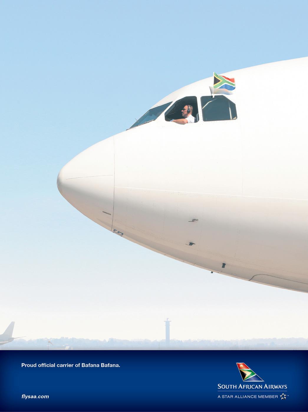 South African Airways Print Ad -  Bafana Bafana
