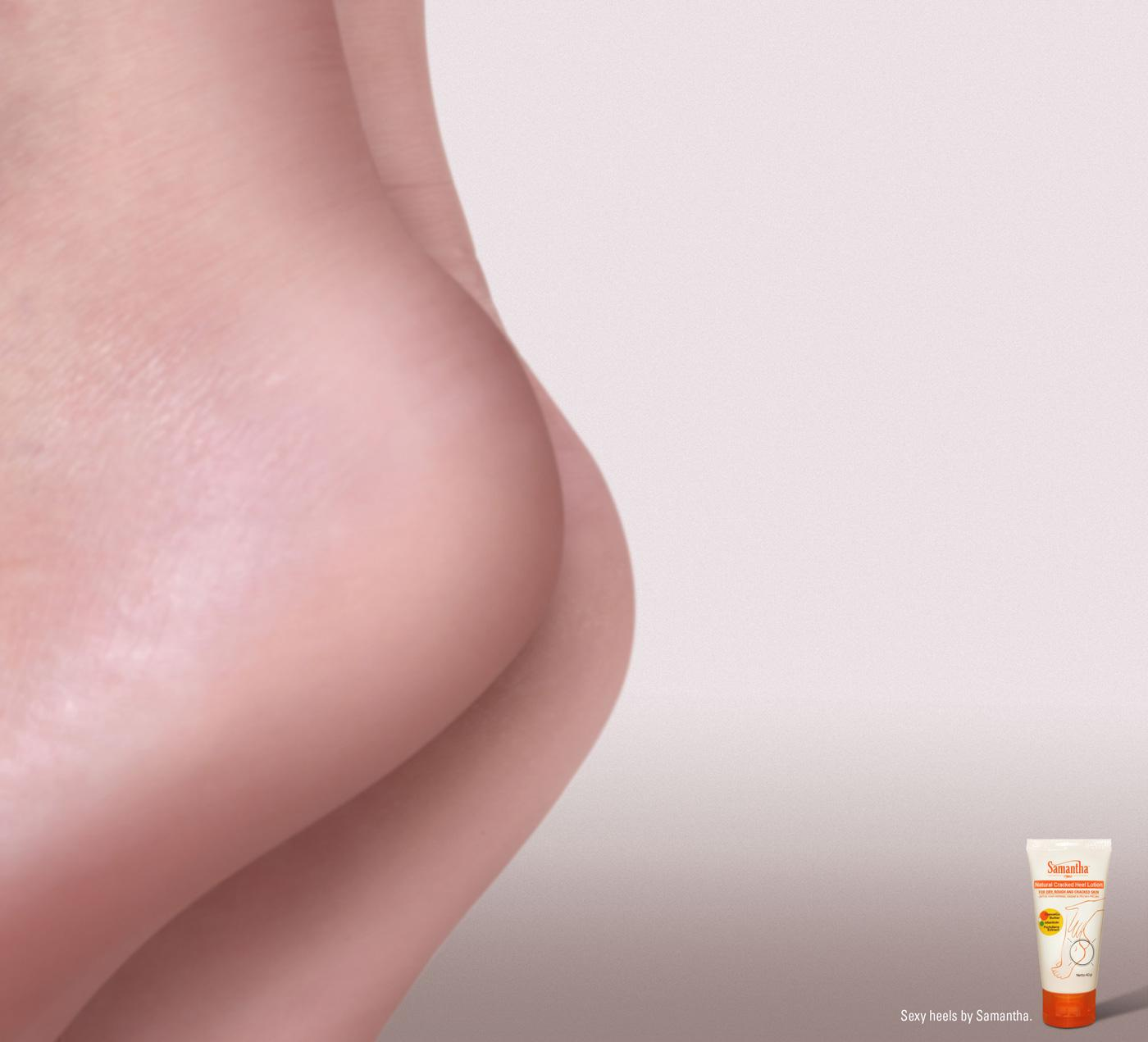 Samantha Cracked Heel Lotion Print Ad -  Sexy Heels