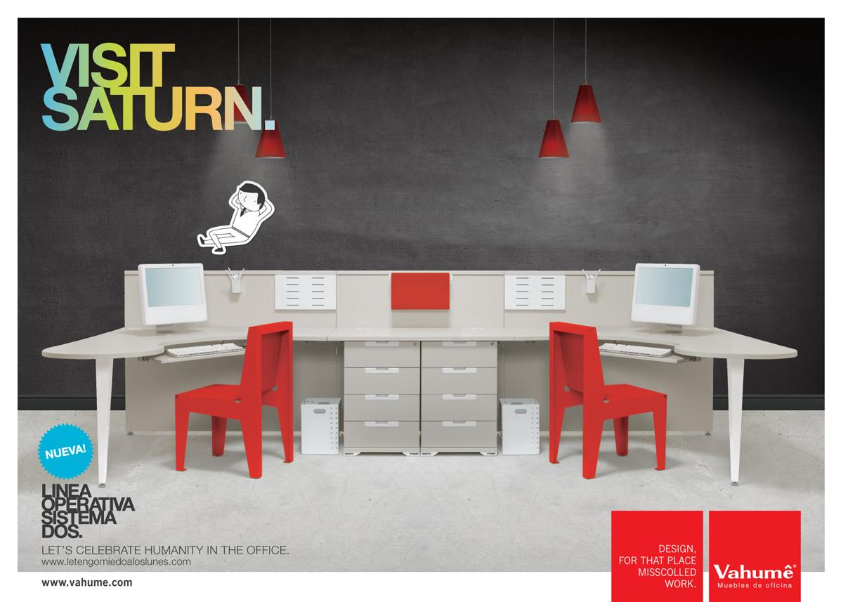 Vahume Print Ad -  Let's Celebrate Humanity in the Office, Saturn