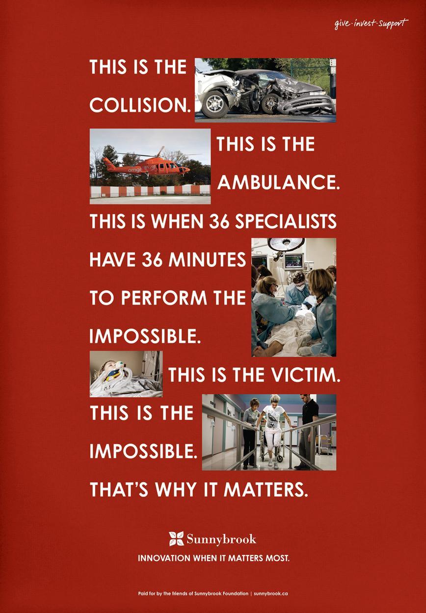 Sunnybrook Hospital Print Ad -  Trauma