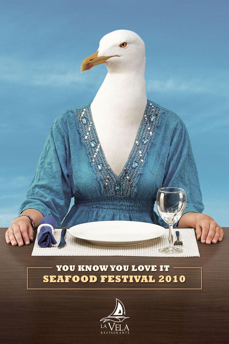 La Vela Print Ad -  Seagull