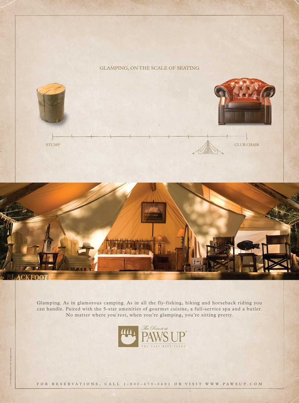 The Resort at Paws Up Print Ad -  Seating