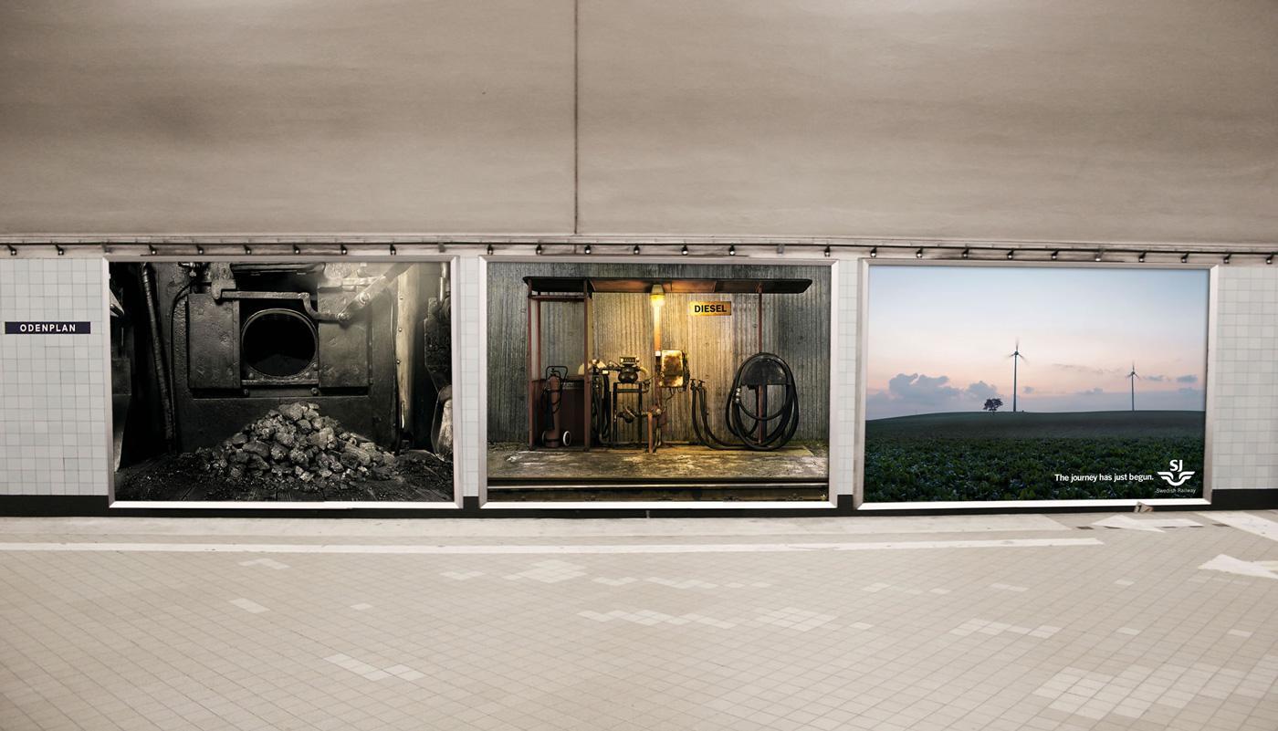 Swedish Railways Outdoor Ad -  Energy