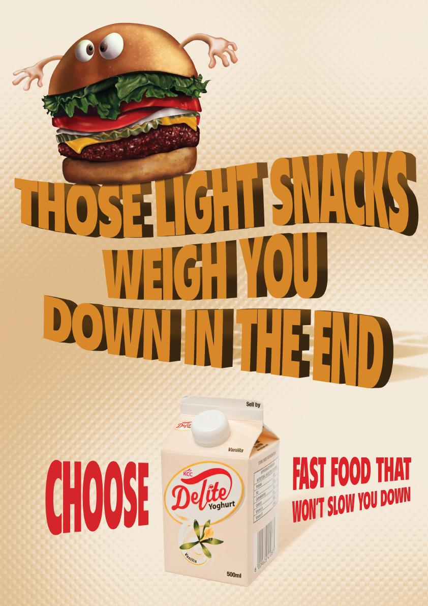 Delite Yoghurt Print Ad -  Burger