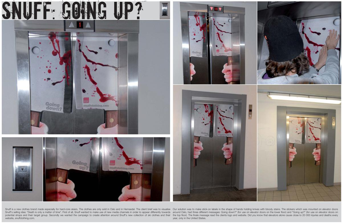 Snuff Ambient Ad -  Elevator