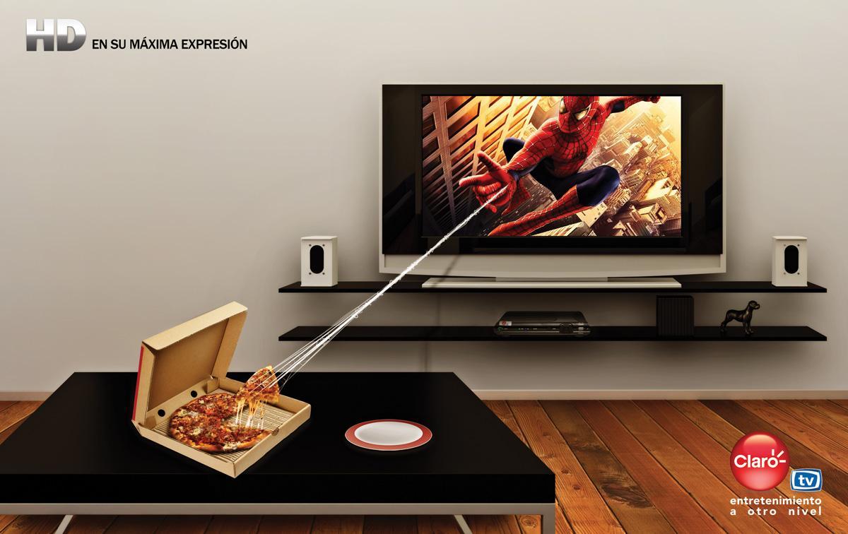 Claro Print Ad -  Spiderman