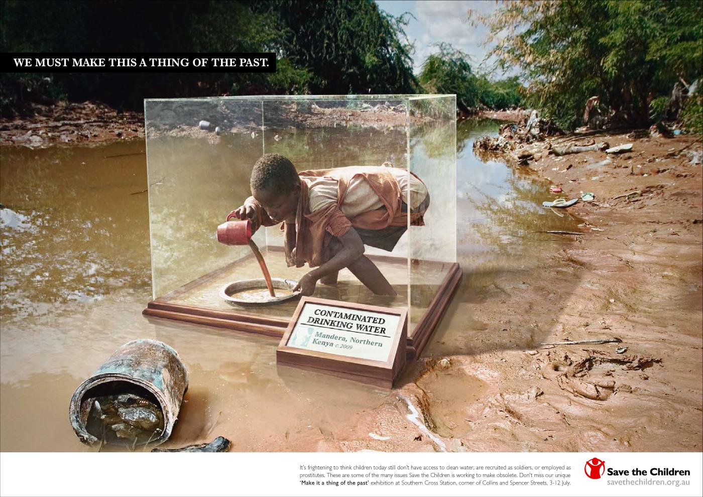 Save the Children Print Ad -  Contaminated drinking water