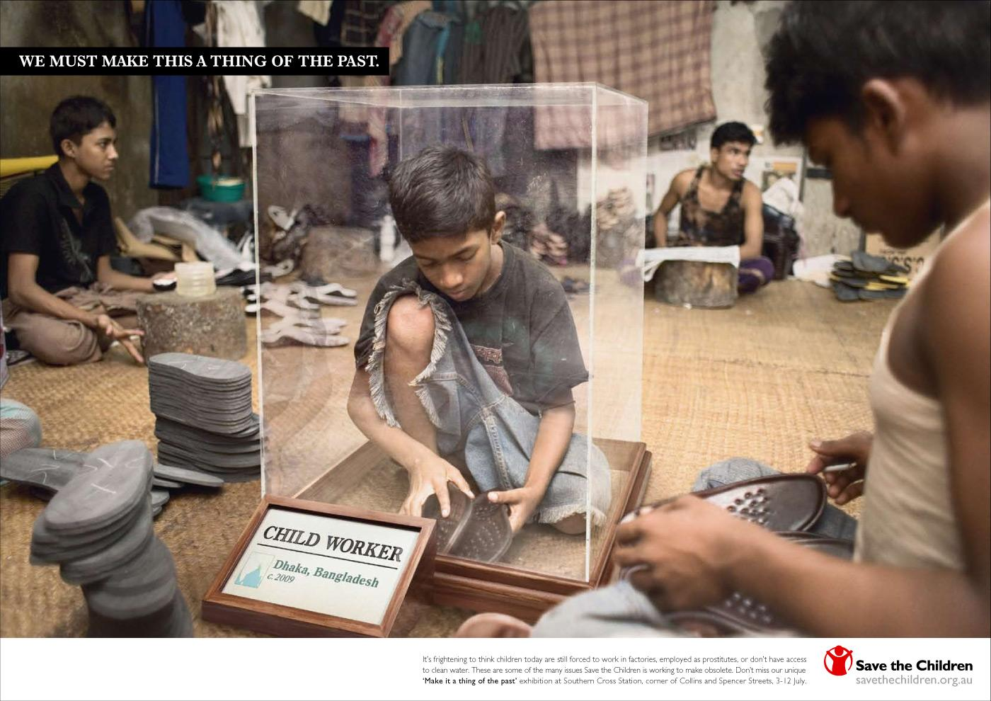 Save the Children Print Ad -  Child worker