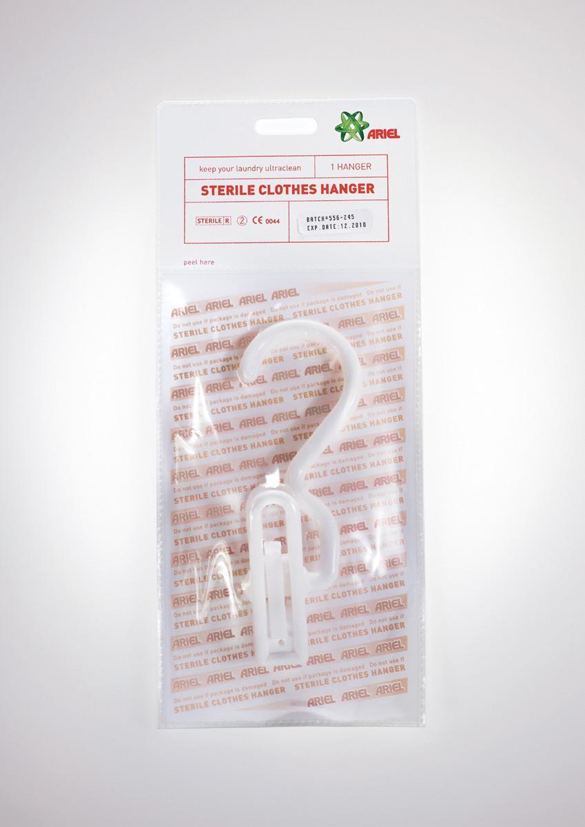 Ariel Ambient Ad -  Sterile hanger