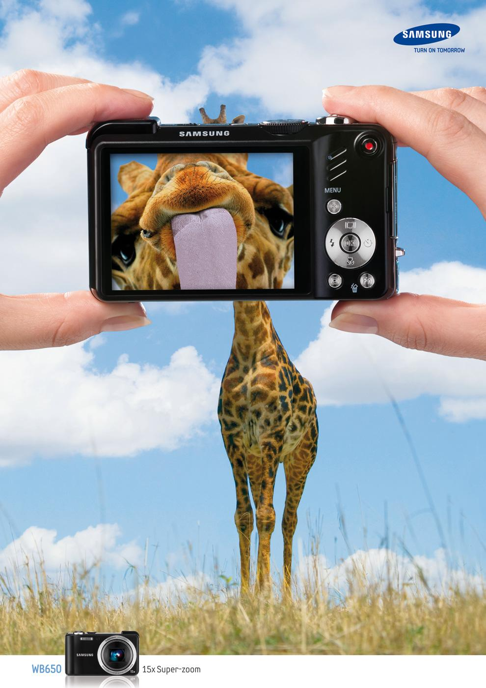 Samsung Print Ad -  15x Super Zoom