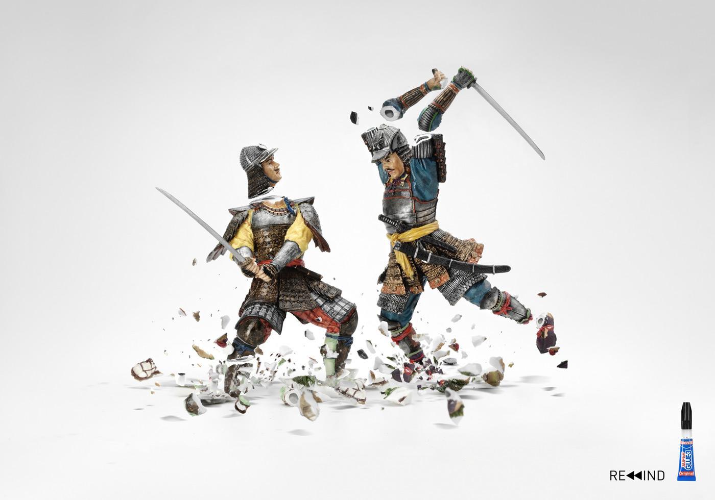 Loctite Print Ad -  Samurais