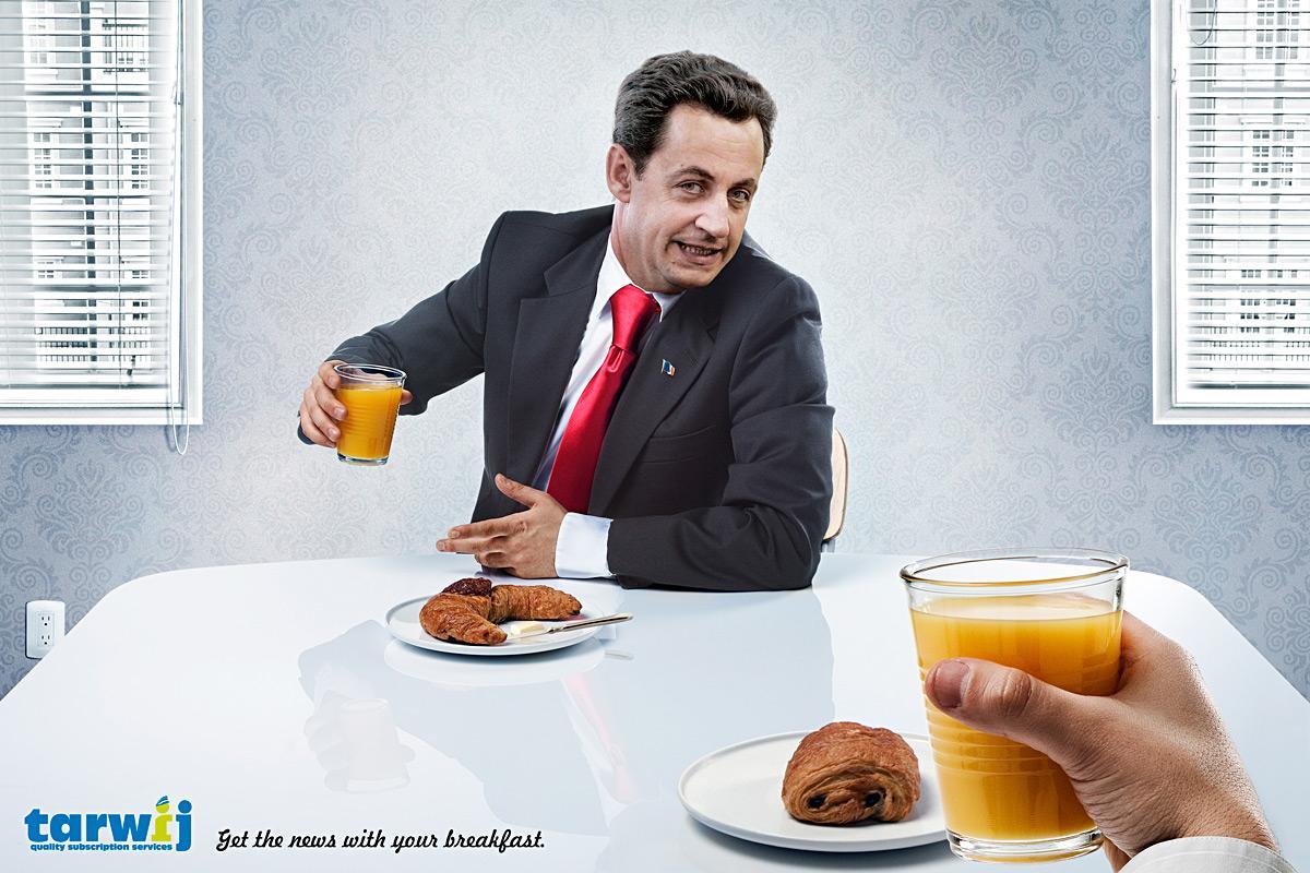 Tarwij Print Ad -  Sarkozy