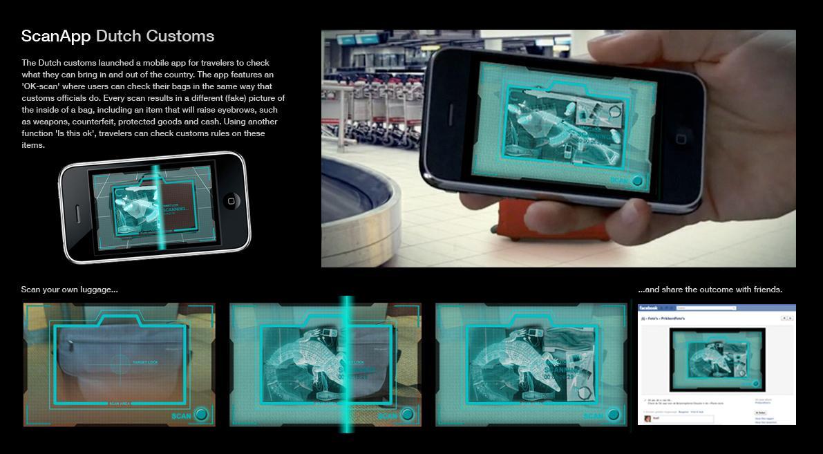 Dutch Customs Digital Ad -  Scan App
