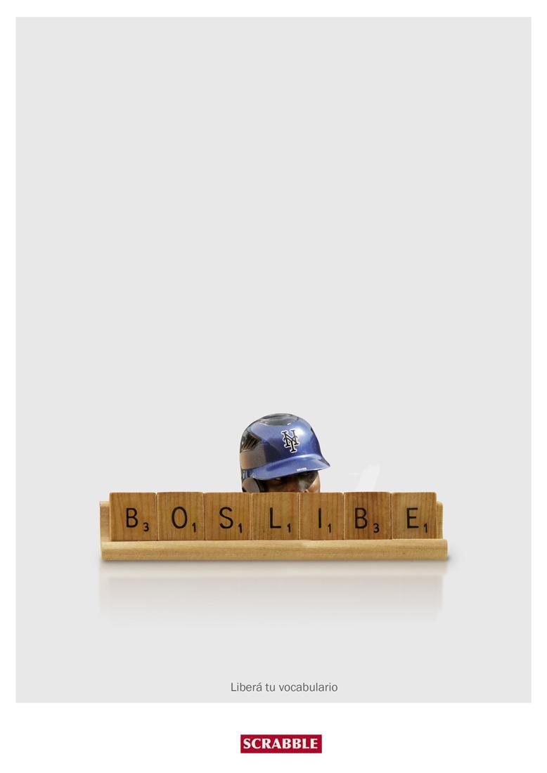 Scrabble Print Ad -  Baseball (Beisbol)